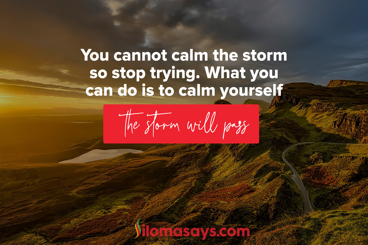 Silomasays 'You Cannot Calm The Storm' Social Media Poster Designed by BraIT Consulting Graphic Designers, experts in Poster Design