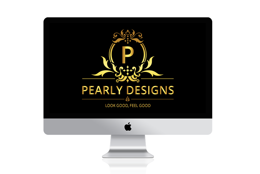Pearly Designs Logo iMAC Mockup By The Best Logo Design in Kenya BraIT Consulting Limited